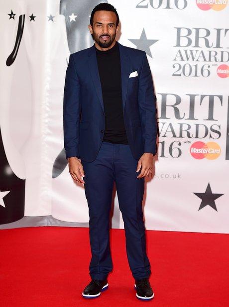 Craig David Red Carpet Arrivals Brit Awards 2016