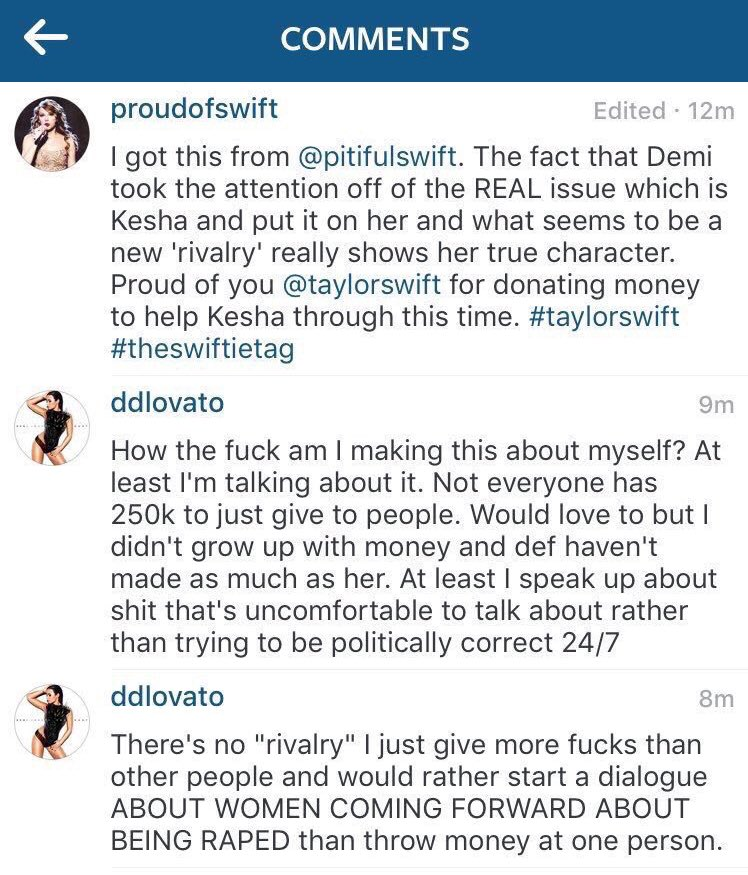 Demi Lovato Addresses The Backlash on Instagram