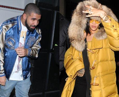 Drake Rihanna outside nightclub