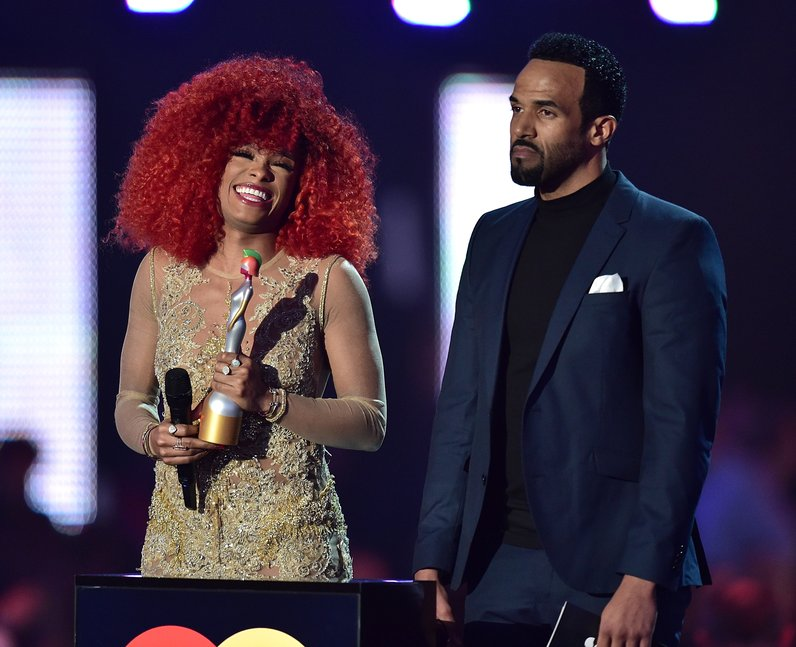 Fleur East and Craig David The Brit Awards 2016