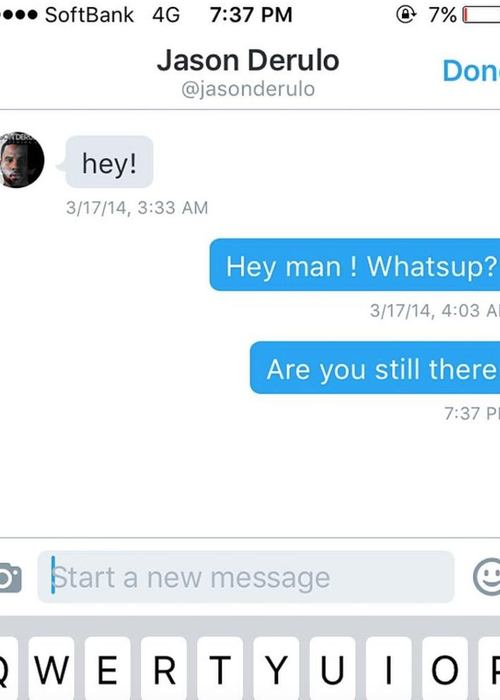 Jason Derulos Finally Replied To 5sos Twitter Dm After Two Years