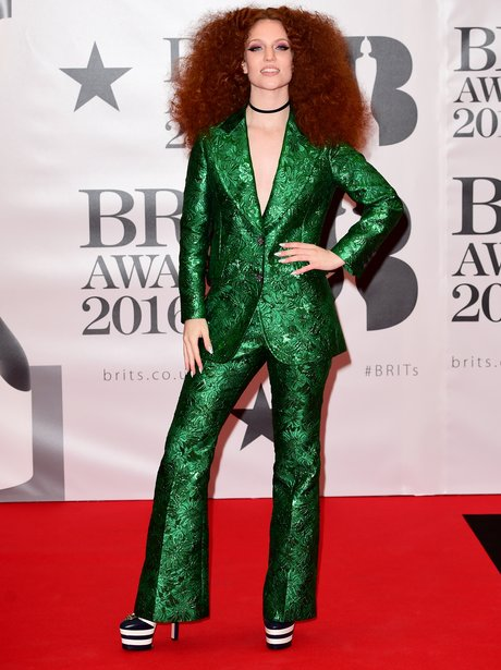 Jess Glynn Red Carpet Arrival Brit Awards 2016