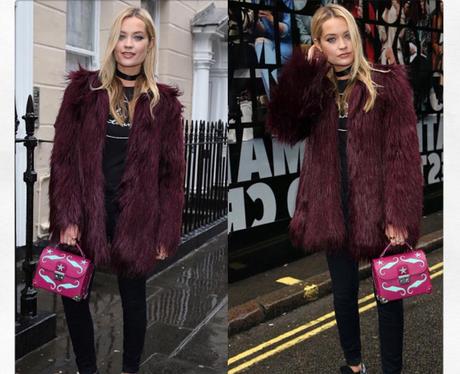 Laura Whitmore at London Fashion Week AW16
