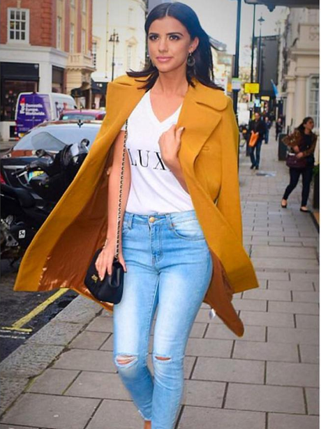 Lucy Mecklenburgh at LFW AW16