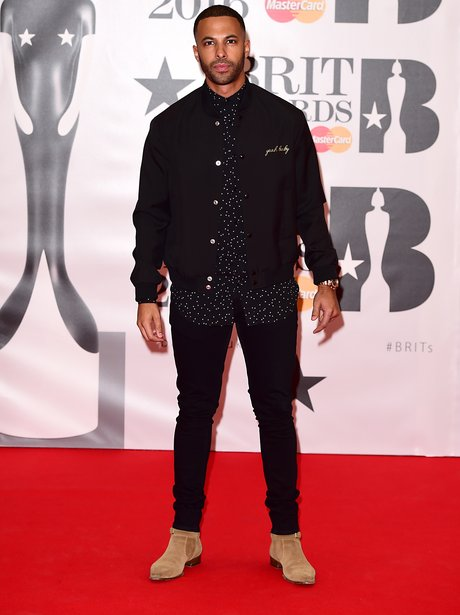 Marvin Humes Red Carpet Arrivals Brit Awards 2016