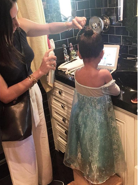 North West takes on her biggest role yet.. Elsa.