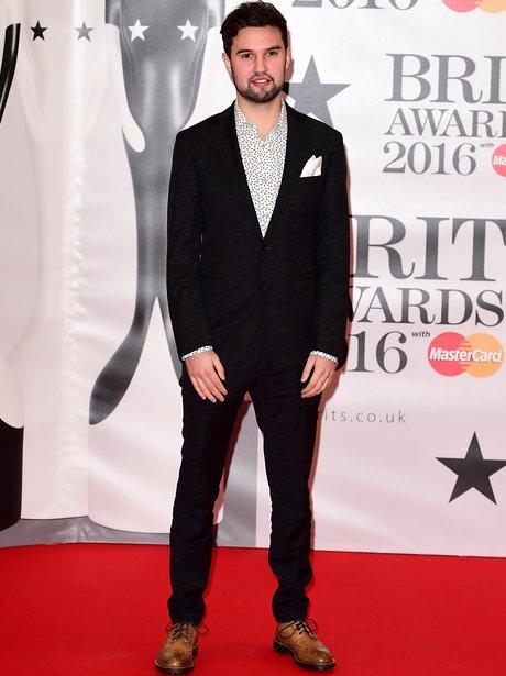 Philip George Red Carpet Arrival Brit Awards 2016