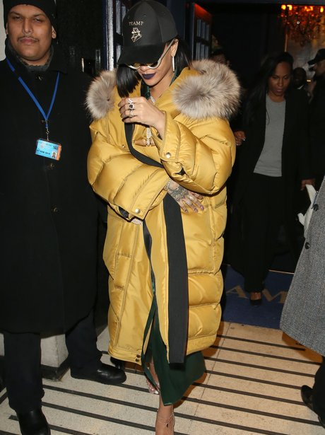 Rihanna leaving Brit Awards aftershow party