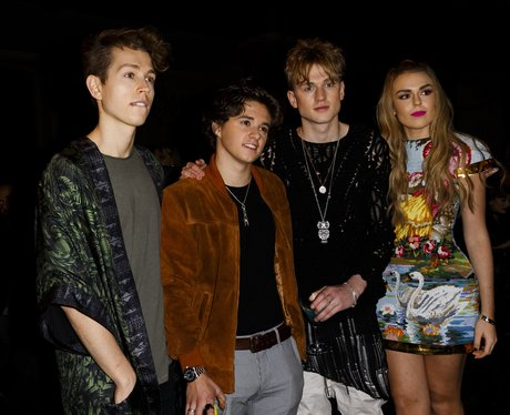 The Vamps and Tallia Storm at London Fashion Week