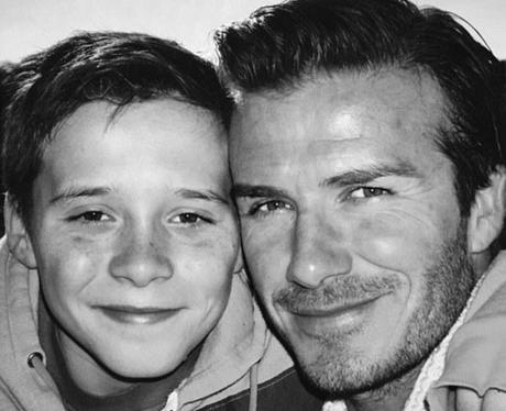 David and Brooklyn Beckham throwback