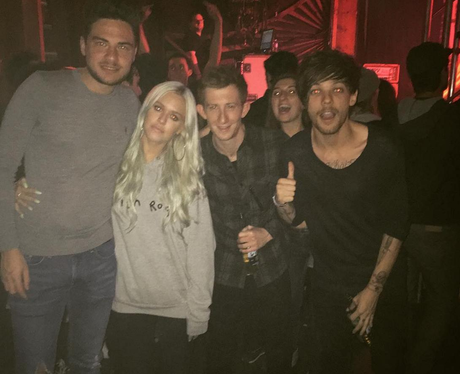 Louis Tomlinson parties in LA