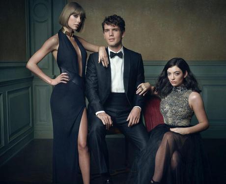 Taylor Swift, Austin Swift and Lorde at Vanity Fai