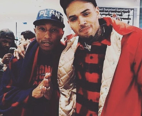 Who Knew That These Two Were Pals Chris Brown Says That Pharrell