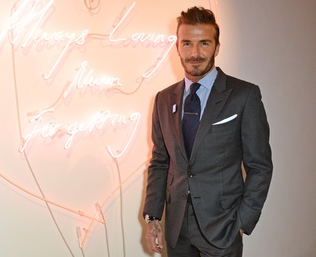David Beckham attends a charity auction