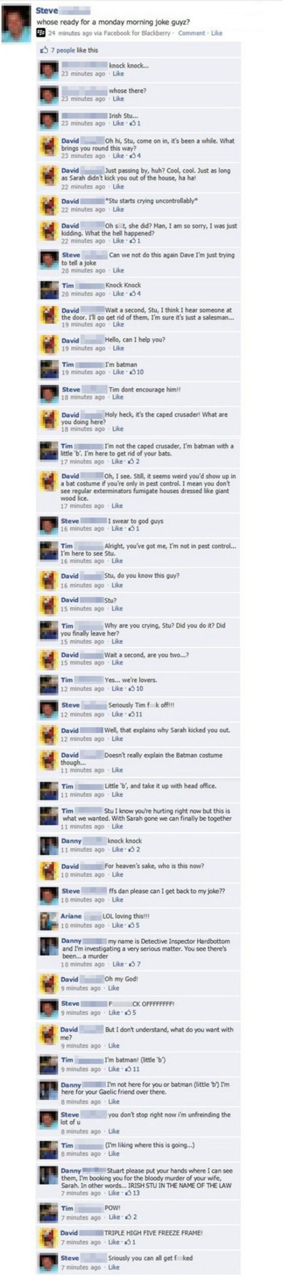 Facebook Knock, Knock Joke Viral
