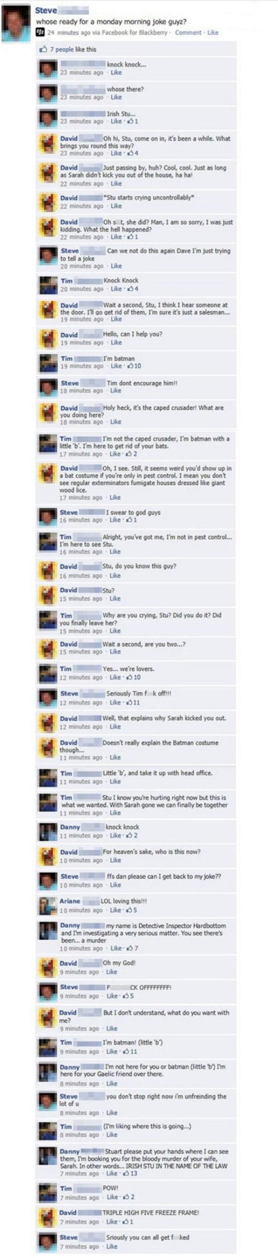 Facebook Knock, Knock Joke Viral
