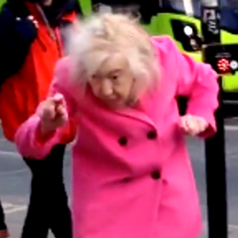 Old Lady Dancing Brighton