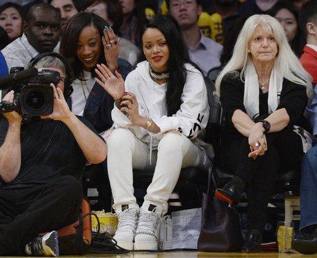 Rihanna attends Basket Ball