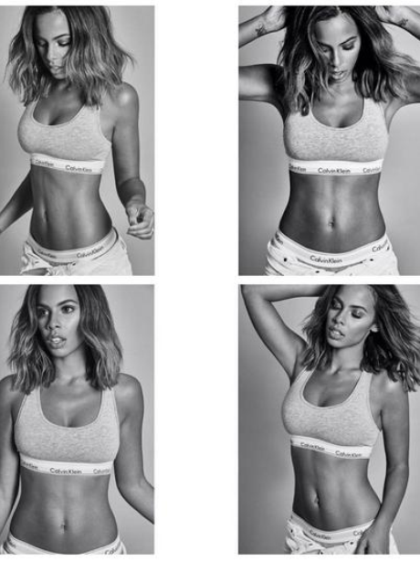 Rochelle Humes models Calvin Klein