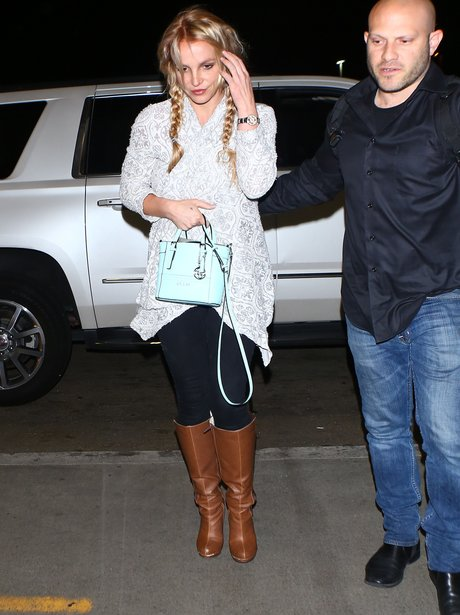 Britney Spears leaving LAX airport