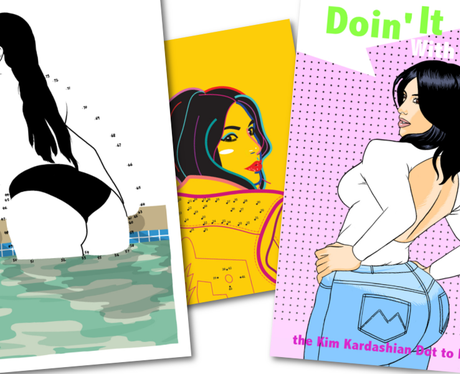 Kim Kardashian Colouring Book