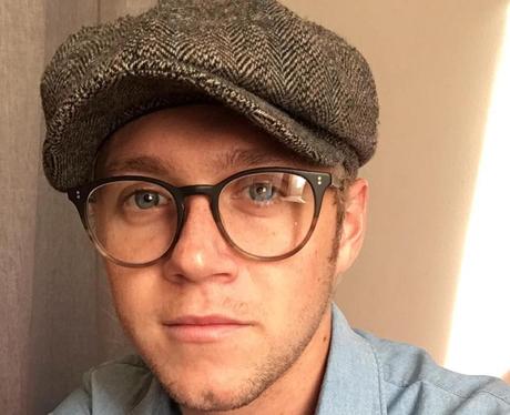Niall Horan in glasses and hat selfie
