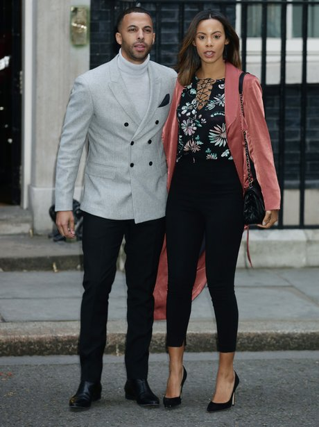 Rochelle and Marvin Humes outside 10 Downing Stree