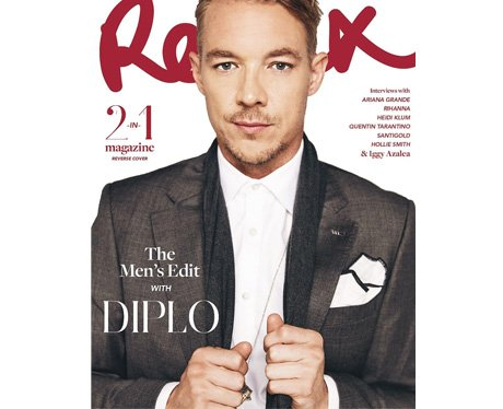 Diplo on the cover of Remix magazine