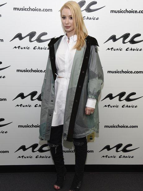Iggy Azalea vists Music Choice in cool parka