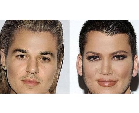 Khloe Kardashian face swaps with Rob Kardashian