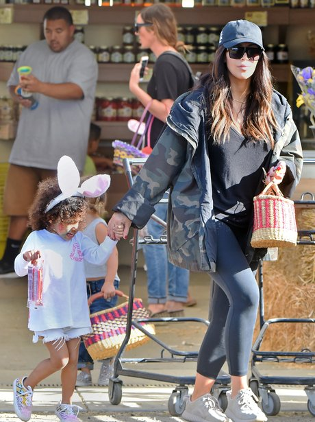Kim Kardashian takes North West out for an early E
