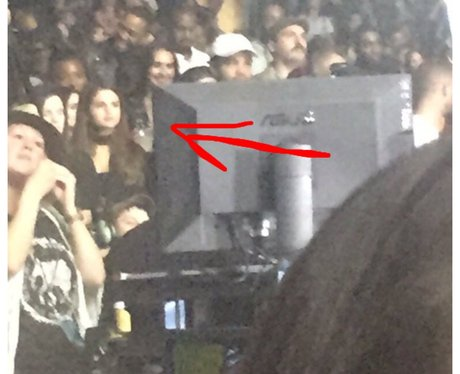 Selena Gomez was spotted at Justin Bieber's gig