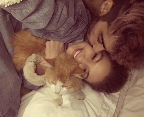 Zayn Malik and Gigi Hadid cosy up in bed