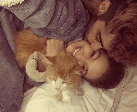Zayn Malik and Gigi Hadid cuddling in bed