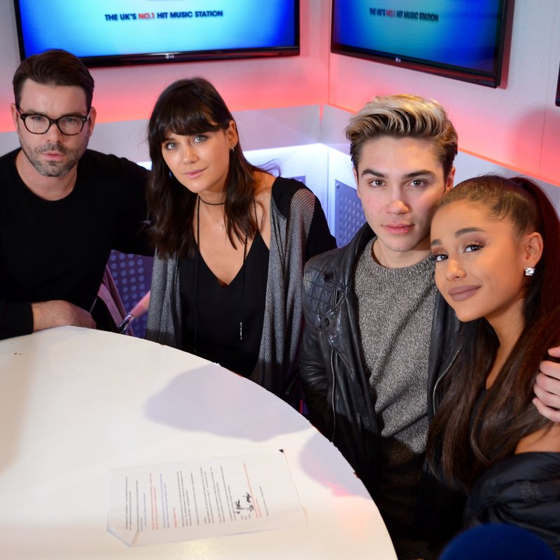 Ariana Grande with Dave Berry, George Shelley & Lilah Parsons