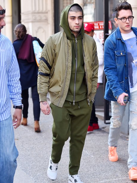 Zayn Malik in weird green tracksuit