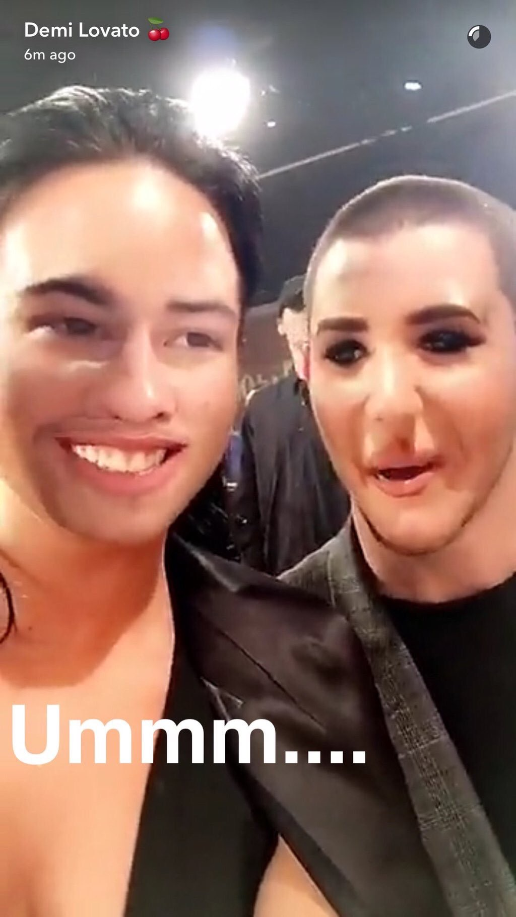 Demi Lovato and Nick Jonas face swap