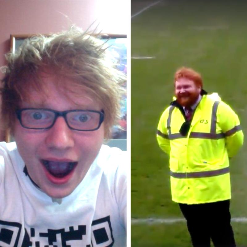 Ed Sheeran Rugby Steward