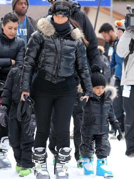 Kim Kardashian and North West hit the ski slopes