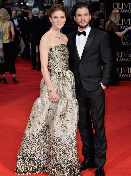 Kit Harrington makes red carpet debut with co-star