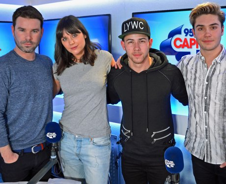 Nick Jonas with Dave Berry, George & Lilah