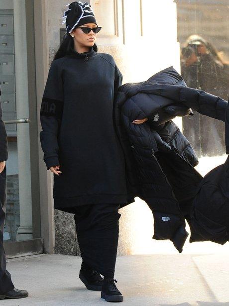 Rihanna in a HUGE jumper