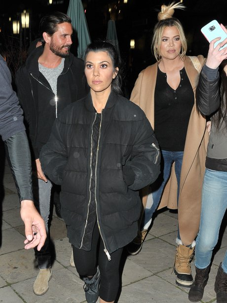 Scott Disick, Kourtney and Khloe Kardashian step o