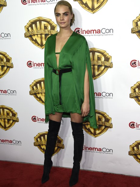Cara Delevingne steps out for CinemaCon with Suici