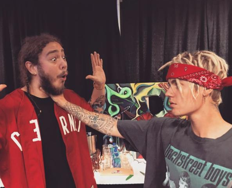 Justin Bieber and Post Malone