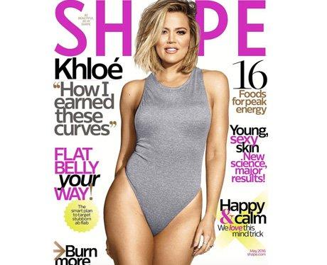 Khloe Kardashian Shape Magazine Canvas