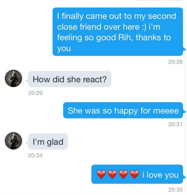 Rihanna Helps Fan Come Out