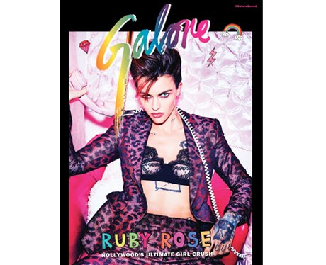 Ruby Rose Galore magazine cover