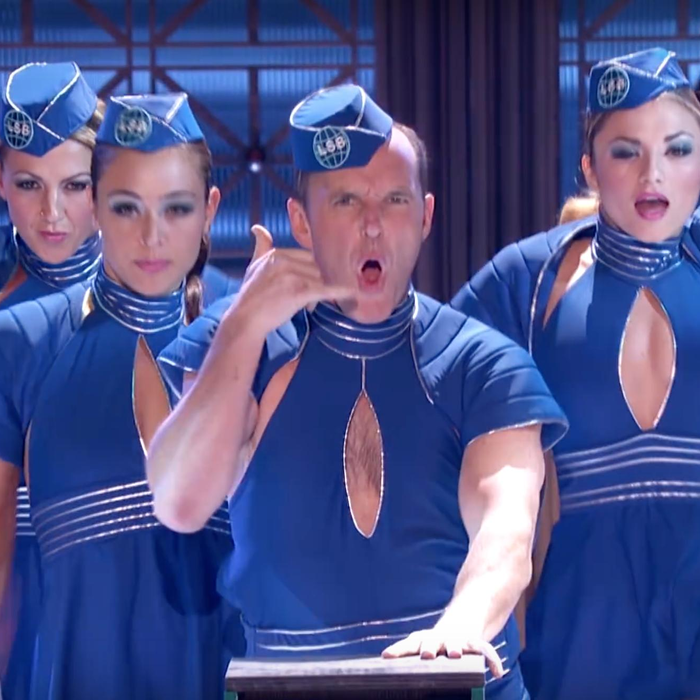 Watch Phil Coulson From Marvel S Avengers Just Performed Britney Spears Toxic Capital