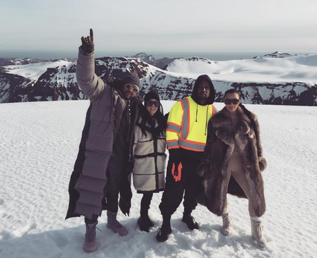 Kanye West dressed as a dustbin man